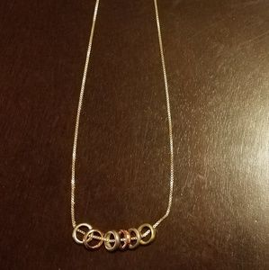 Jewelry - 8 lucky  rings gold necklace